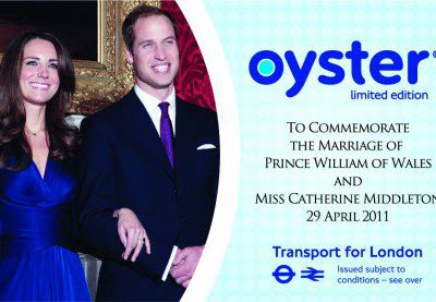ASK supplies Royal Wedding limited-edition Oyster card