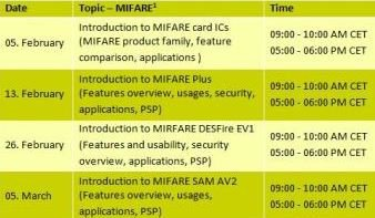 MIFARE Webinars 2013