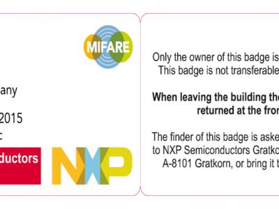 Paper becoming smart - Smart Visitor Badges
