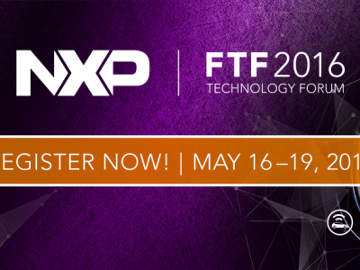 Join us at this year's NXP FTF Technology Forum, May 16-19, 2016